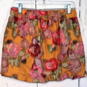 J Crew Size 0 Floral Watercolor Bubble Skirt